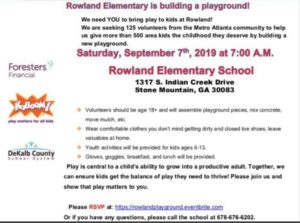 Community Service Project: Rowland Elementary School (Build Playground) @ Rowland Elementary School