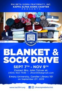 Blanket and Sock Drive @ Emory University, Chandler Library Room 101